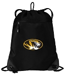 University of Missouri Drawstring Backpack-MESH & MICROFIBER