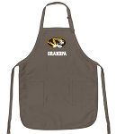 Official MIZZOU Grandpa Apron Tan