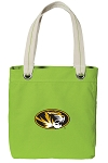 Mizzou Tote Bag RICH COTTON CANVAS Green