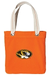 Mizzou Tote Bag RICH COTTON CANVAS Orange