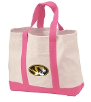 University of Missouri Tote Bags Pink