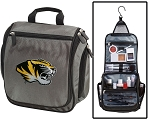 Mizzou Toiletry Bag or University of Missouri Shaving Kit Organizer for Him Gray