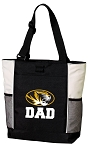 University of Missouri Dad Tote Bag White Accents