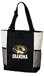 University of Missouri Grandma Tote Bag White Accents