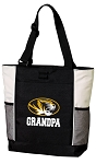 University of Missouri Grandpa Tote Bag White Accents