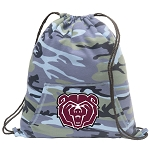 Missouri State Drawstring Backpack Blue Camo