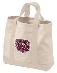 Missouri State University Tote Bags NATURAL CANVAS