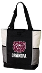 Missouri State University Grandpa Tote Bag White Accents