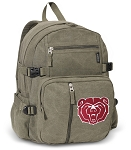 Missouri State University Canvas Backpack Olive