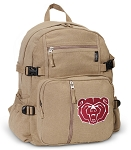 Missouri State University Canvas Backpack Tan
