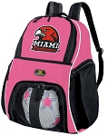 Girls Miami University Soccer Backpack or Miami RedHawks Volleyball Bag