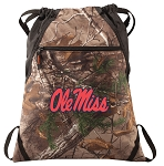Ole Miss RealTree Camo Cinch Pack