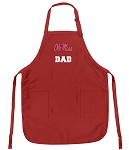 Ole Miss Dad Aprons Red