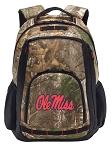 Ole Miss RealTree Camo Backpack