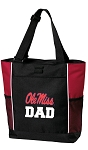 Ole Miss Dad Tote Bag Red