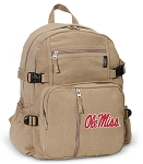 Ole Miss Canvas Backpack Tan