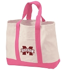 Mississippi State Tote Bags Pink