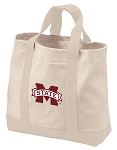 Mississippi State Tote Bags NATURAL CANVAS