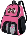 Girls Mississippi State University Soccer Backpack or MSU Bulldogs Volleyball Bag