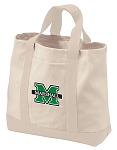 Marshall University Tote Bags NATURAL CANVAS