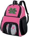Girls Marshall University Soccer Backpack or Marshall Volleyball Bag