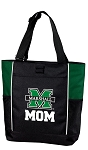 Marshall University Mom Tote Bag Hunter Green