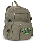 Marshall University Canvas Backpack Olive