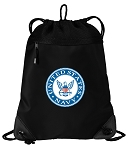United States Navy Drawstring Backpack-MESH & MICROFIBER