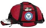 US NAVY Gym Bag - United States Navy Duffel BAG with Shoe Pocket RED