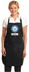 Official NAVY MOM Apron Black