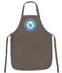 Official United States Navy Logo Apron Tan