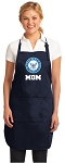 Official NAVY MOM Aprons Navy
