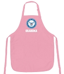 Deluxe NAVY Grandma Apron Pink - MADE in the USA!