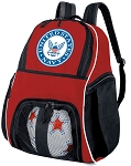 United States Navy Soccer Backpack or US NAVY Volleyball Practice Bag Red Boys or Girls