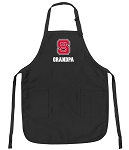 Official NC State Grandpa Apron Black