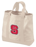 NC State Tote Bags NATURAL CANVAS