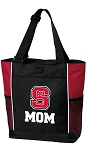 NC State Mom Tote Bag Red