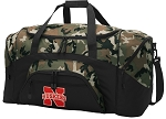 Official University of Nebraska Camo Duffel Bags