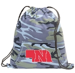 University of Nebraska Drawstring Backpack Blue Camo