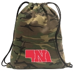 University of Nebraska Drawstring Backpack Green Camo