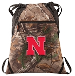 University of Nebraska RealTree Camo Cinch Pack