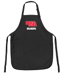 Deluxe Nebraska Grandfather Apron Black