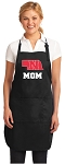 Deluxe Nebraska Mom Apron Black