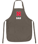 University of Nebraska Dad Deluxe Apron Khaki