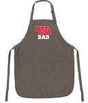 Official Nebraska Father Logo Apron Tan