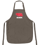 Official Nebraska Grandpa Apron Tan