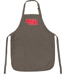 Official Nebraska Huskers Logo Apron Tan
