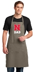 University of Nebraska Dad Large Apron Khaki