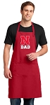 University of Nebraska Dad Large Apron Red