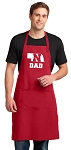 LARGE Nebraska Father APRON for MEN or Women RED
